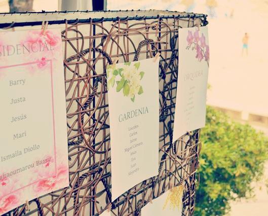 carteles mesas boda